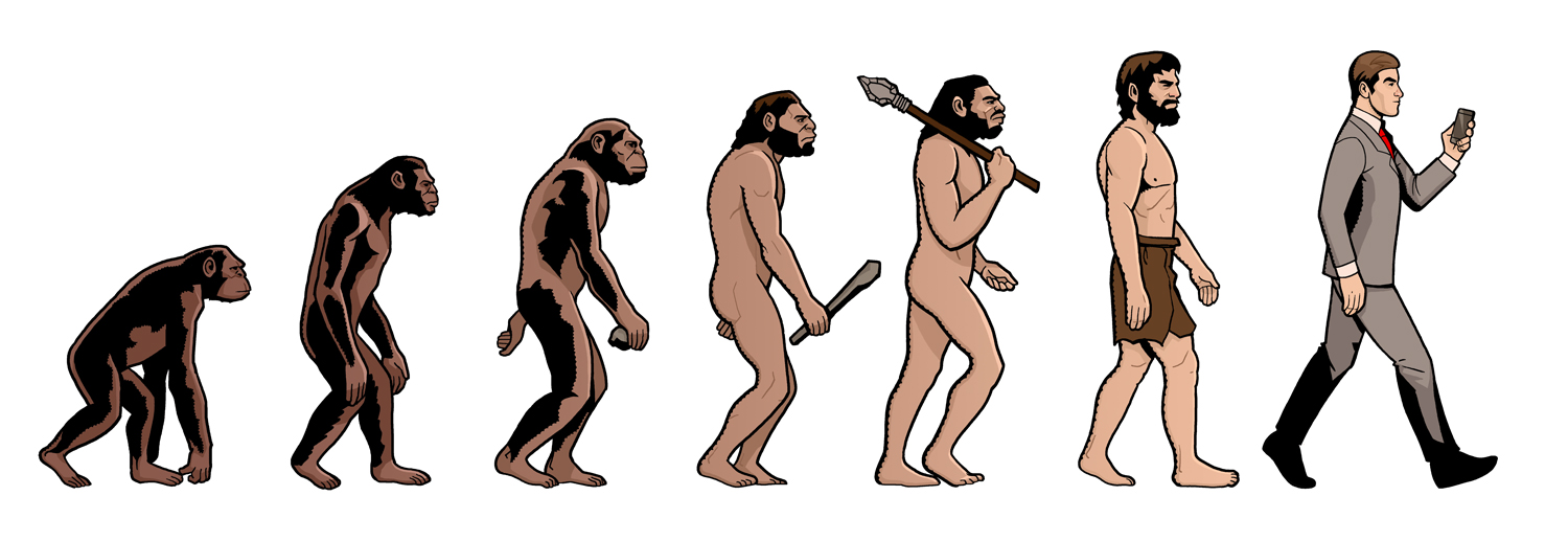 Evolution Illustration, Zeichner: Odenthal Illustration