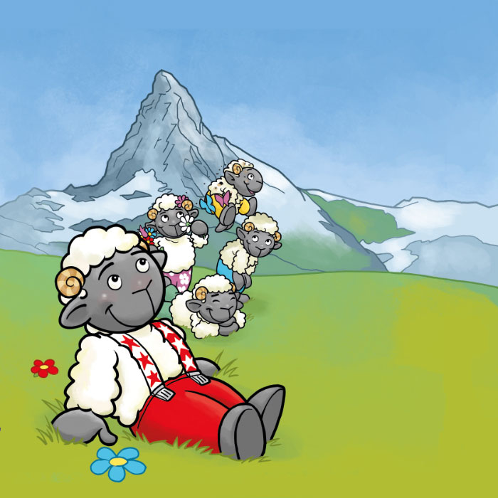 Wolli Kinderbuch: Titel-Illustration