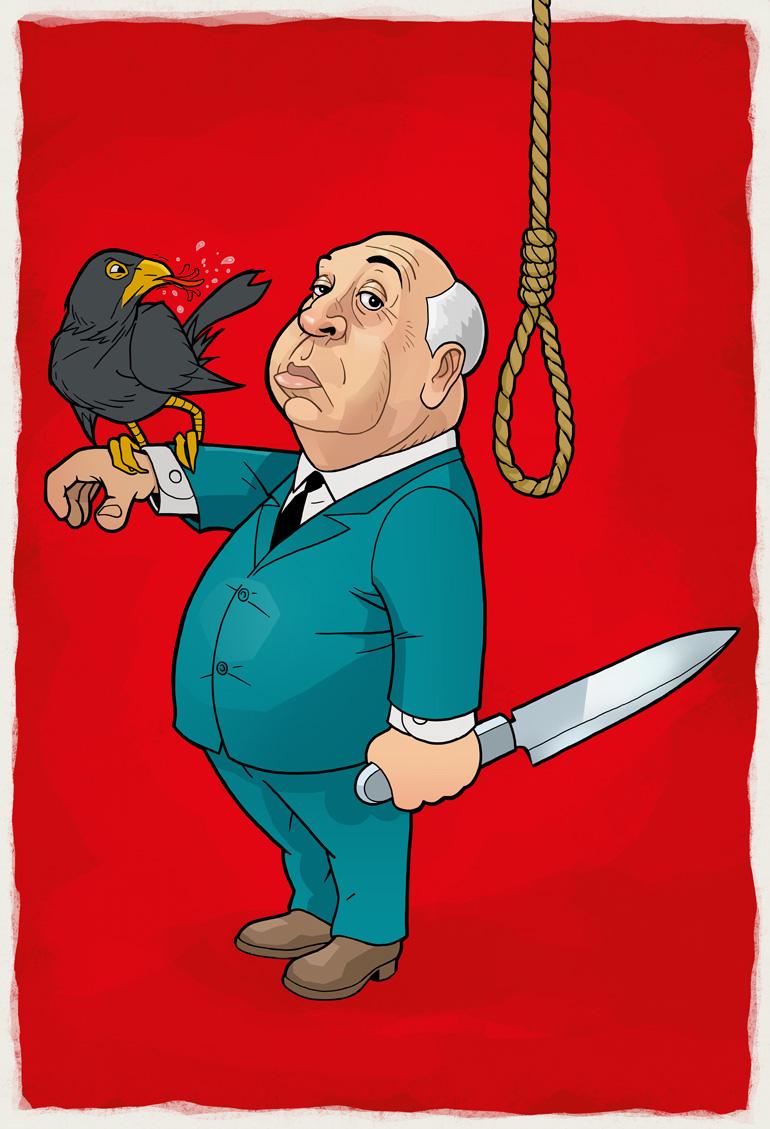 Karikatur: Hitchcock, Zeichner: Odenthal