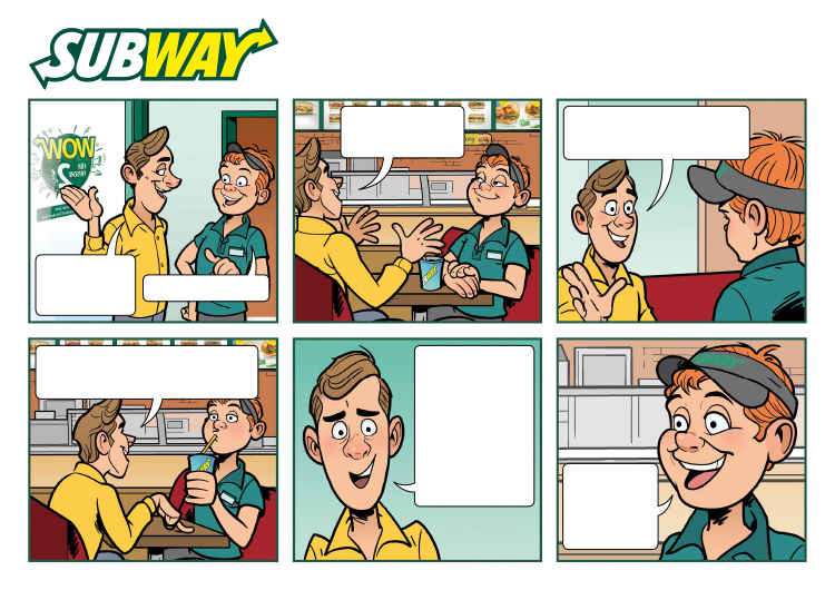 Comic: Subway, Comiczeichner Odenthal