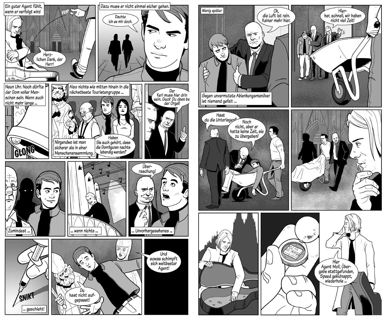 Bang! Comic Seite, Zeichner Odenthal