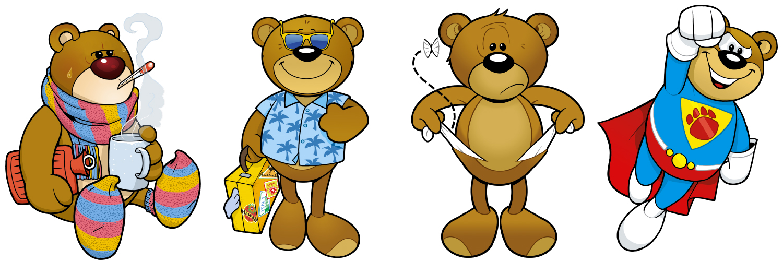 Bären Maskottchen, Cartoon Zeichner: Odenthal