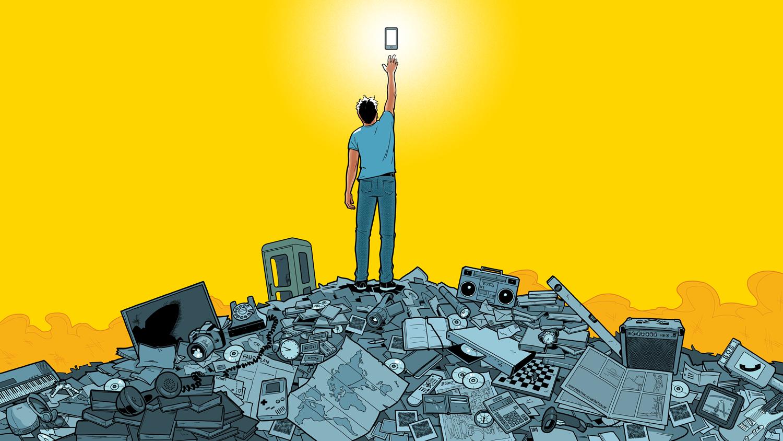 Smartphone Funktionen, Illustrator: Odenthal