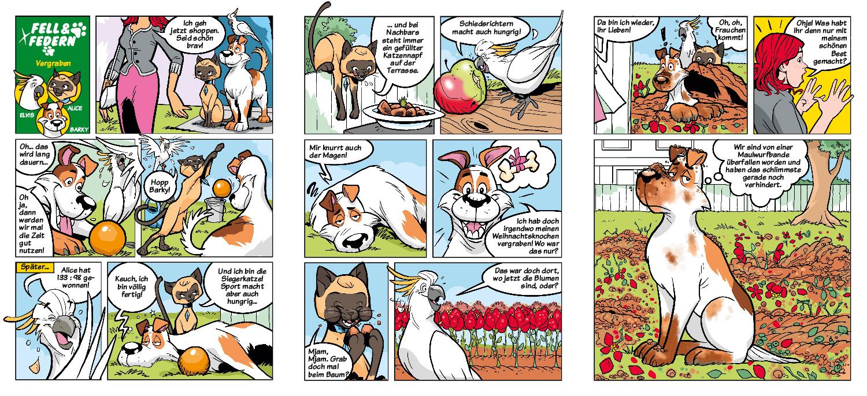 Fell und Federn Comic 2
