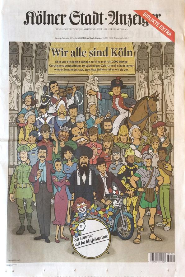 Stadtanzeiger Birlikte Cover Illustration