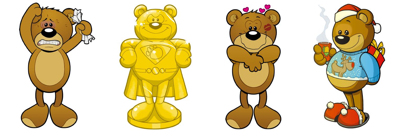 Maskottchen Bären Illustrator Odenthal